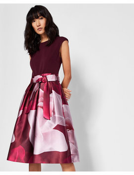 Porcelain Rose Full Skirt Dress by Ted Baker