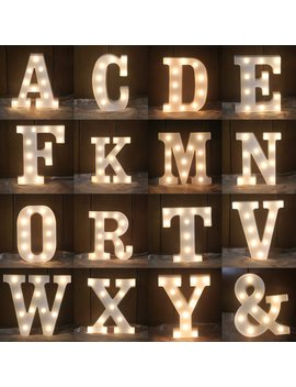 A Z Alphabet Letter Led Light White Light Up Decoration Symbol Indoor Wall Decoration Wedding Party Window Display Light by Fanhhui