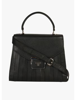 Black Leather Handbag by Da Milano