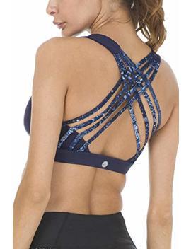 Queenie Ke Women's Medium Support Strappy Back Energy Sport Bra Cotton Feel by Queenie Ke