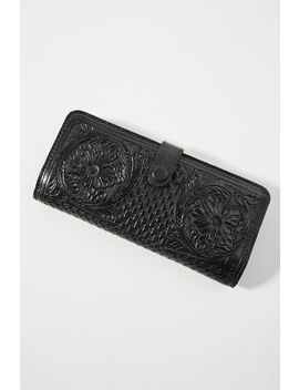 Embossed Leather Wallet by Anthropologie