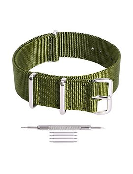 Ritche Premium Nato Strap 18mm 20mm 22mm Nylon Replacement Watch Band Men Women by Ritche