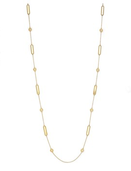 "18 K Yellow Gold New Barocco Necklace With Diamonds, 35"" by Roberto Coin"