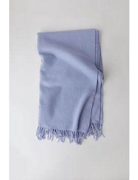 Fransen Schal Jeansblau by Acne Studios