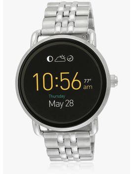 Q Wander Ftw2111 Silver/Black Touchscreen Smart Watch by Fossil