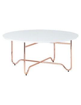 Coffee Table White Rose Gold by Shop All Acme Furniture