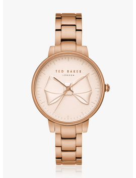 Rose Gold/Pink Stainless Steel Analog Watch by Ted Baker