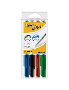 Bic Velleda 1741 Whiteboard Markers Assorted Colours 4 Pack by Bic
