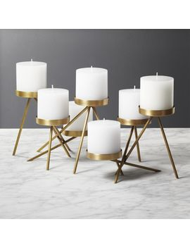 Stretto Multi Pillar Candle Holder by Crate&Barrel
