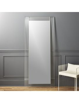 "32""X76"" Acrylic Floor Mirror by Crate&Barrel"