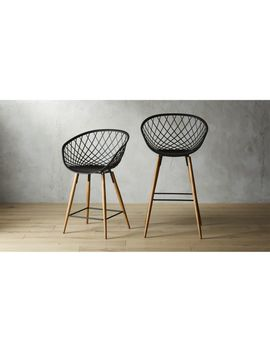 Sidera Black Bar Stools by Crate&Barrel