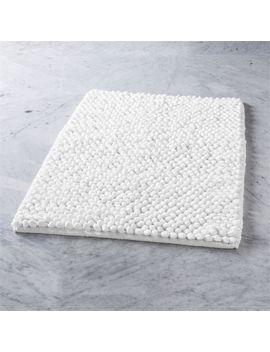 Cirrus White Bath Mat by Crate&Barrel