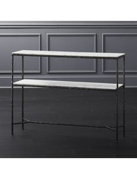 Molten Marble Console Table by Crate&Barrel