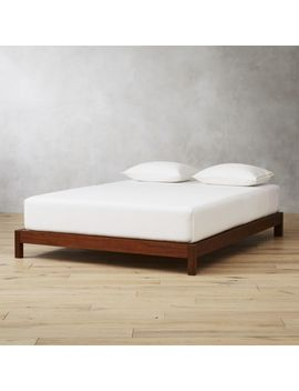 Simple Wood Bed Base Queen by Crate&Barrel