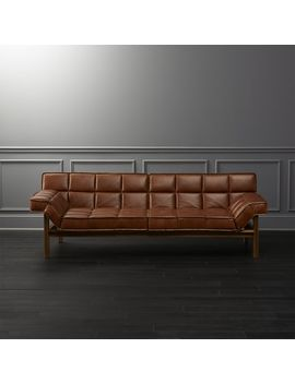 Drops Leather Sofa by Crate&Barrel