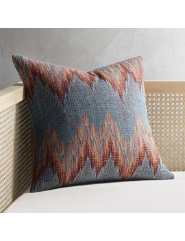 "18"" Senica Multicolored Pillow With Feather Down Insert by Crate&Barrel"
