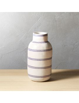 Clifford Stripe Vase by Crate&Barrel