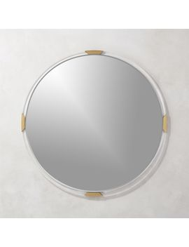 "Demi Round Acrylic Mirror 36"" by Crate&Barrel"