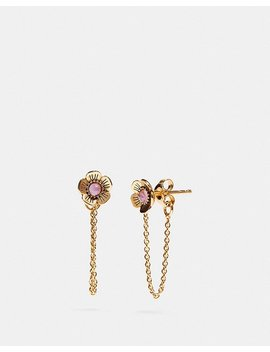 Demi Fine Tea Rose Chain Earrings by Coach