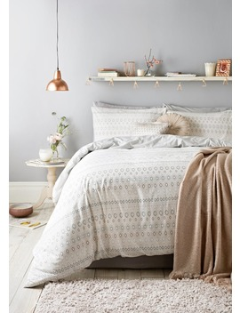 Geometric Stripe Duvet Cover by Matalan