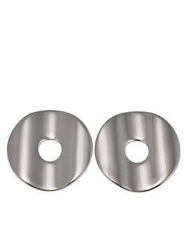Stately Steel Polished Disc Shaped Stud Earrings by Stately Steel
