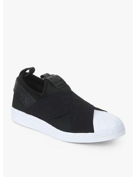 Superstar Slipon W Black Sneakers by Adidas Originals