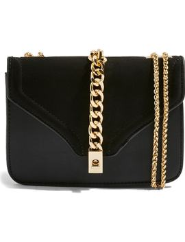 daisy-chain-faux-leather-crossbody-bag by topshop