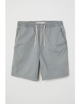 elasticated-cotton-shorts by h&m