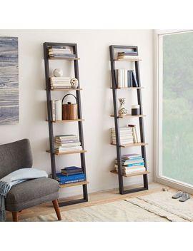 Ladder Bookshelf   Narrow (Sand/Stone) by West Elm