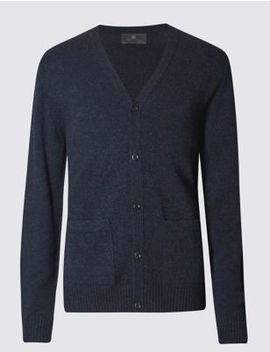 Pure Lambswool Cardigan by Tracked Express Delivery: