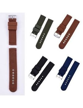 4 Colors Nylon Fabric Canvas Wrist Watch Band Strap 18 20 22 24mm Military Army by Unbranded
