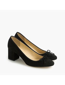 Evie Ballet Heel In Black Suede by J.Crew