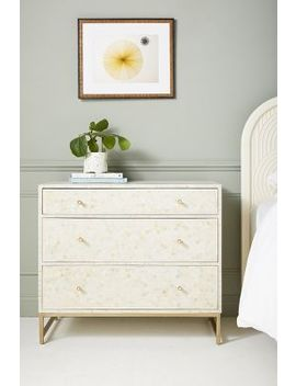 Star Inlay Three Drawer Dresser by Anthropologie