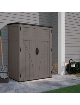 Suncast 4 Ft. 5 In. W X 2 Ft. 9 In. D Plastic Vertical Tool Shed & Reviews by Suncast