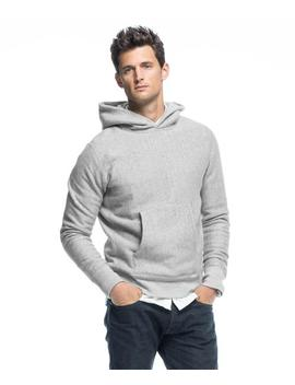 Popover Hoodie In Light Grey Mix by Todd Snyder + Champion