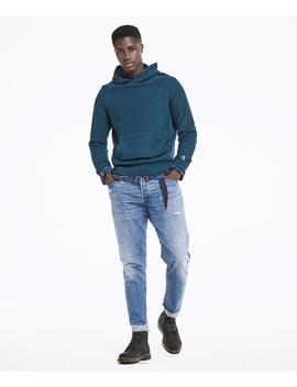 Popover Hoodie Sweatshirt In Petrol Blue by Todd Snyder + Champion