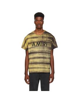 Yellow Tie Dye T Shirt by Amiri