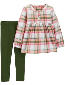 2 Piece Plaid Flannel & Legging Set by Carter's