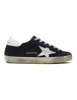 Ssense Exclusive Navy Superstar Sneakers by Golden Goose