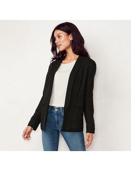 Women's Lc Lauren Conrad Relaxed Open Front Blazer by Kohl's