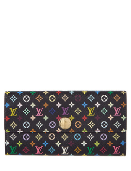 Louis Vuitton Black Monogram Multicolore Canvas Sarah Wallet by Louis Vuitton