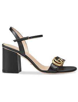 Gucci Leather Mid Heel Sandalhome Women Gucci Shoes Sandals by Gucci