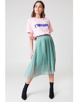 Pleated Midi Skirt by Na Kd