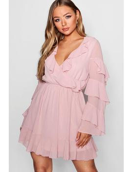 Boutique Frill Detail Skater Dress by Boohoo