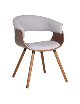 !Nspire Mid Century Side Chair With Wood Legs by !Nspire