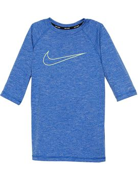 Nike Boys' Heather Swoosh Half Sleeve Hydro Rash Guard by Nike