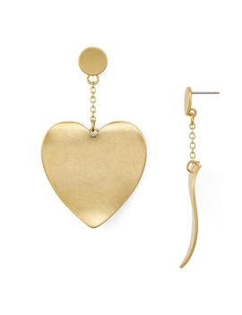 Sadie Curved Heart Drop Earrings by Rebecca Minkoff