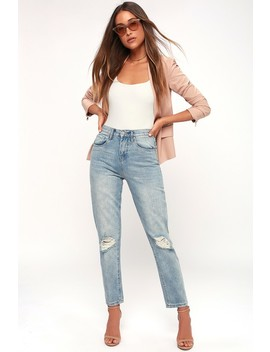 Arroyo Light Wash Distressed High Waisted Jeans by Lulu's