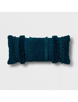 Teal Tufted Oversize Lumbar Throw Pillow   Opalhouse™ by Shop All Opalhouse™