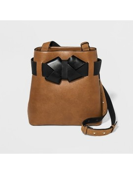 Bow Tote Handbag   Who What Wear™ Brown by Shop All Who What Wear
